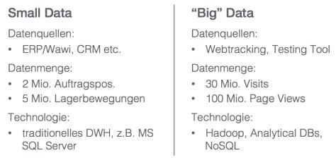 Small vs Big Data